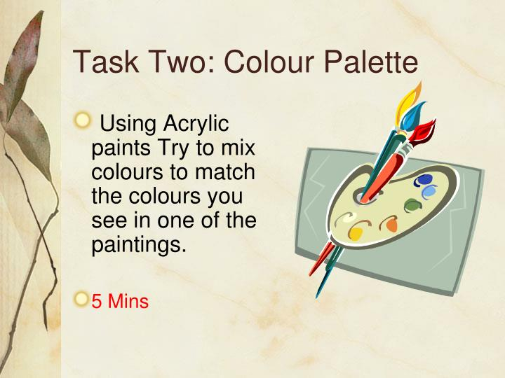 Task Two: Colour Palette