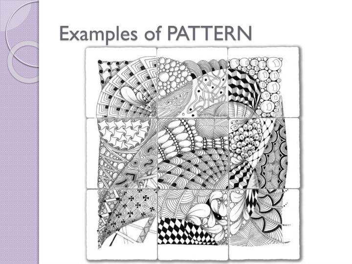 Examples of PATTERN