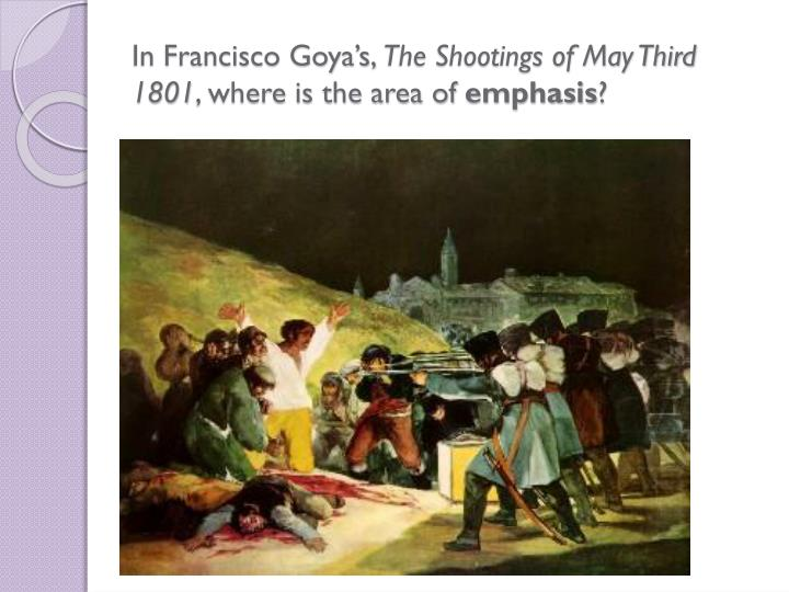 In Francisco Goya's,