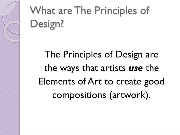 What are The Principles of Design?