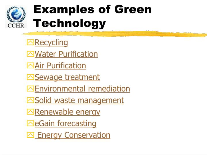 Ppt climate change and green technology powerpoint Examples of green technology