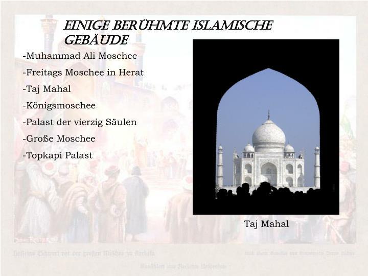 Einige Berühmte islamische Gebäude