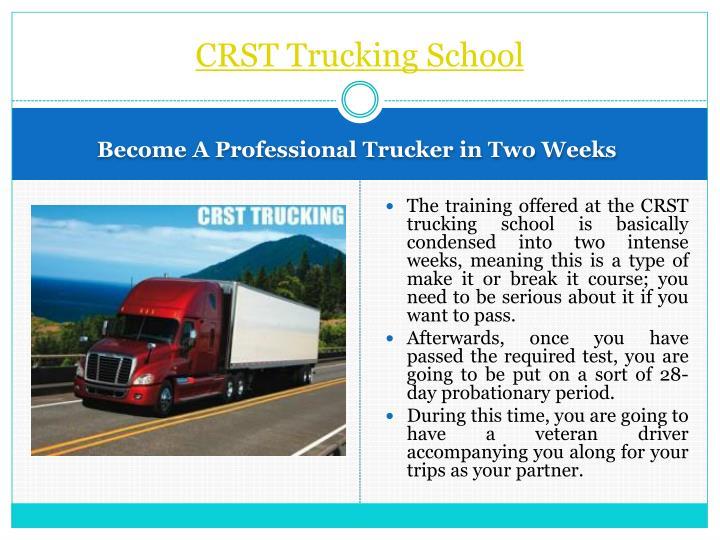 CRST Trucking School