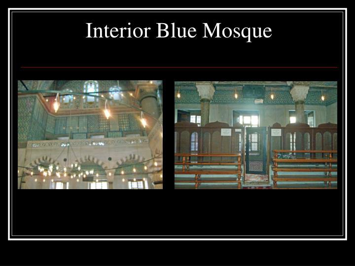 Interior Blue Mosque