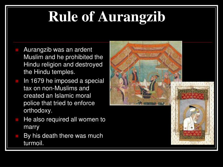 Rule of Aurangzib