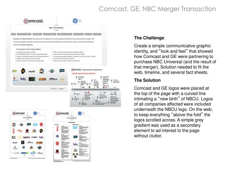 Comcast, GE, NBC Merger Transaction