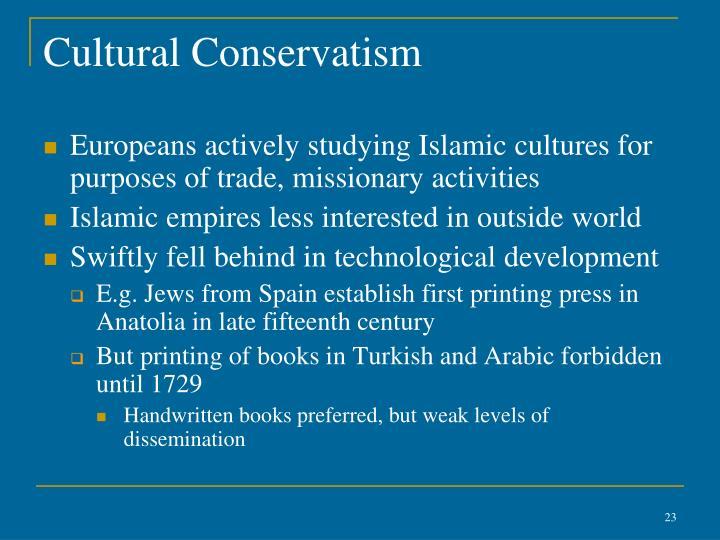 Cultural Conservatism