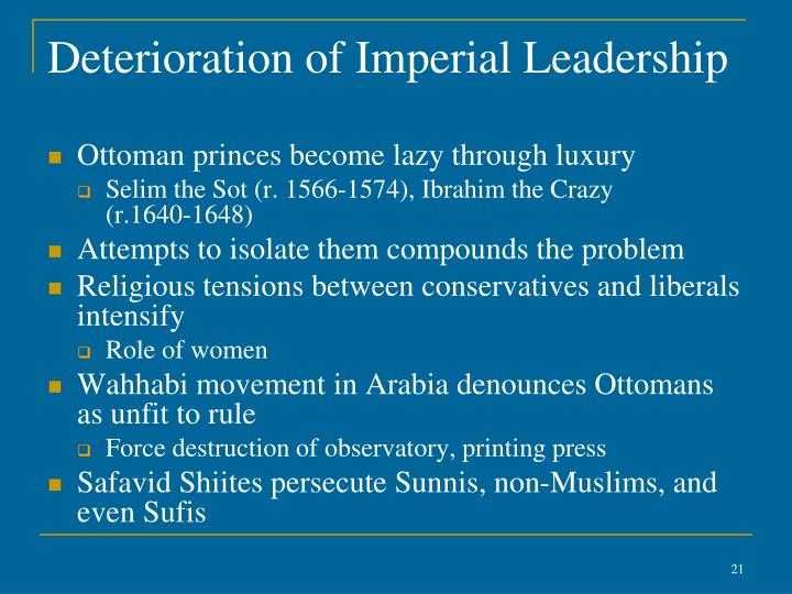 Deterioration of Imperial Leadership