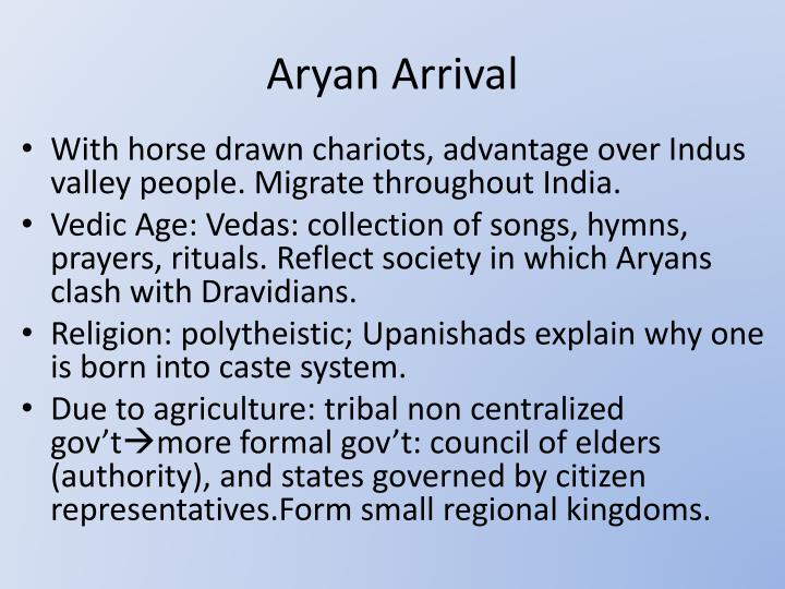 Aryan Arrival