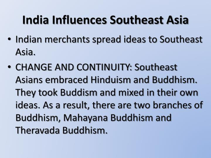 India Influences Southeast Asia