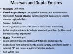 mauryan and gupta empires