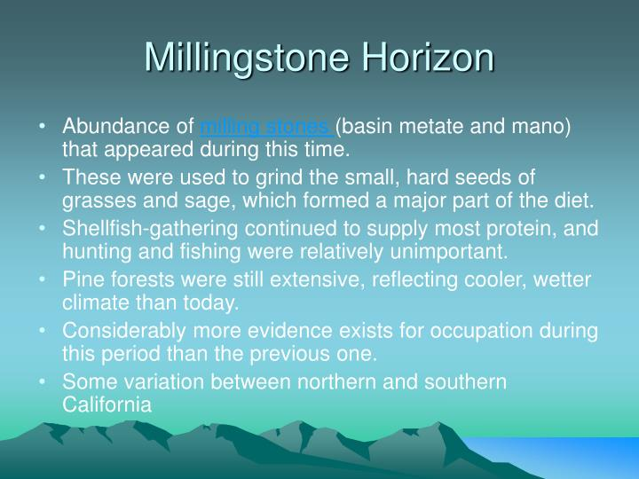 Millingstone Horizon