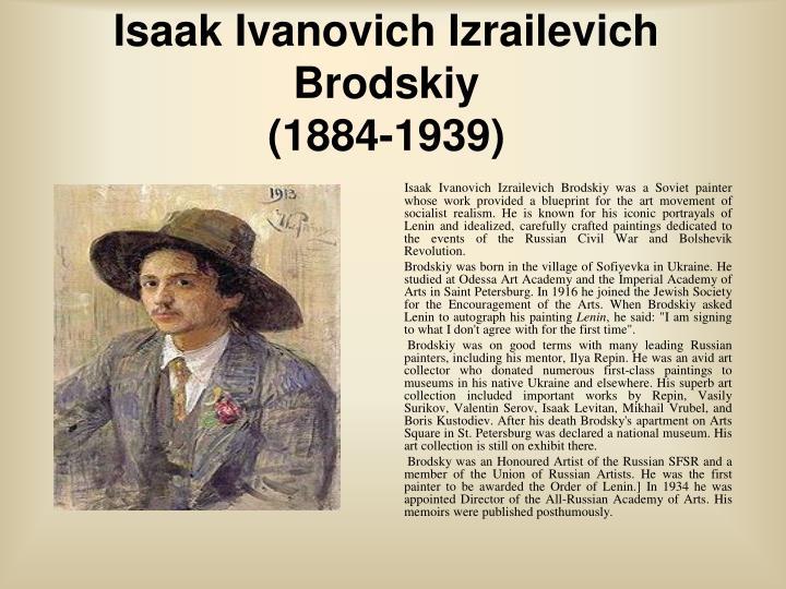 Isaak Ivanovich Izrailevich Brodskiy
