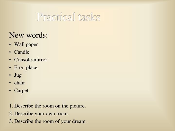 Practical tasks