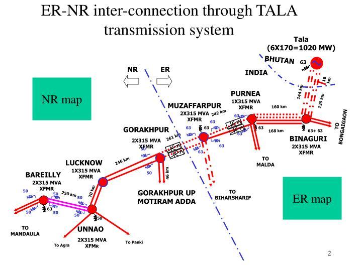 ER-NR inter-connection through TALA transmission system