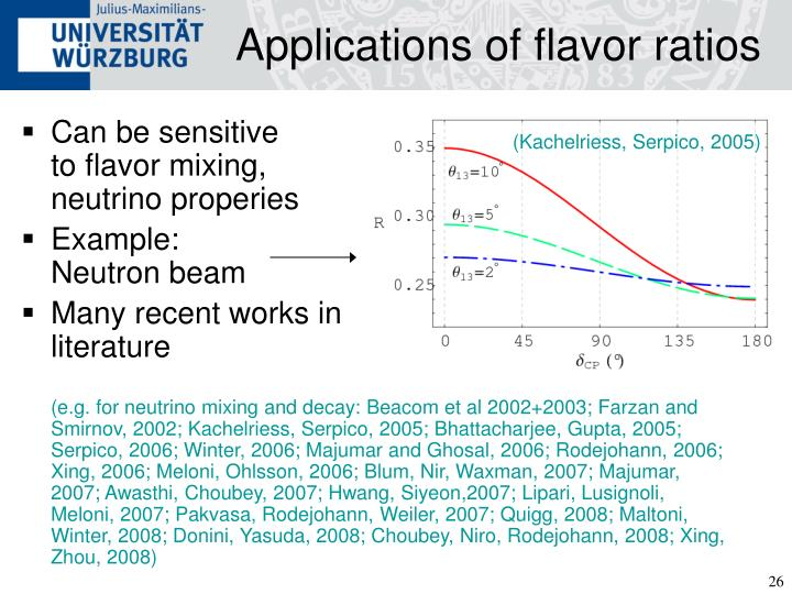 Applications of flavor ratios