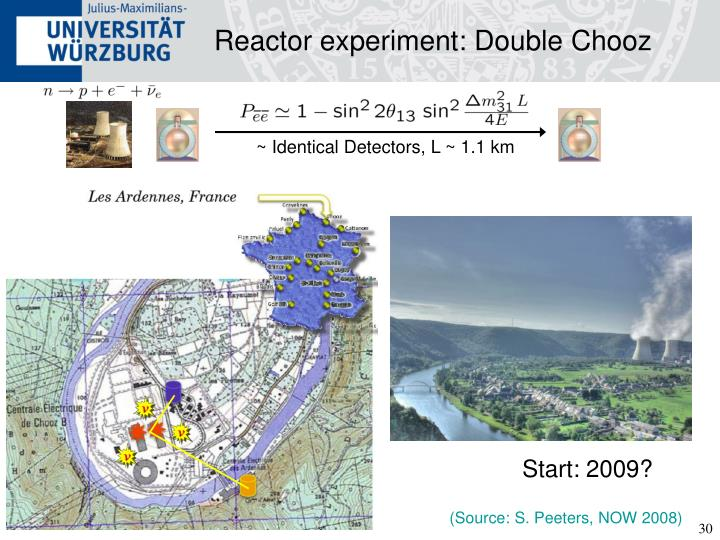 Reactor experiment: Double Chooz