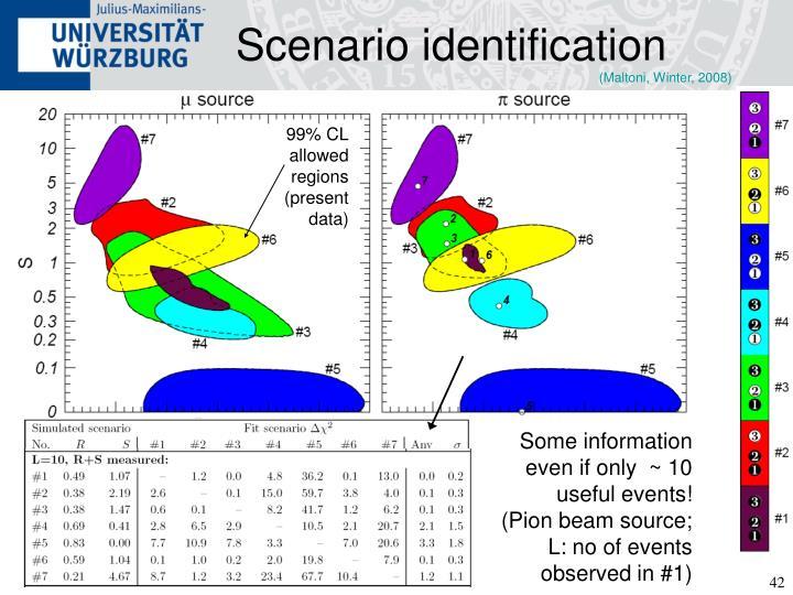 Scenario identification