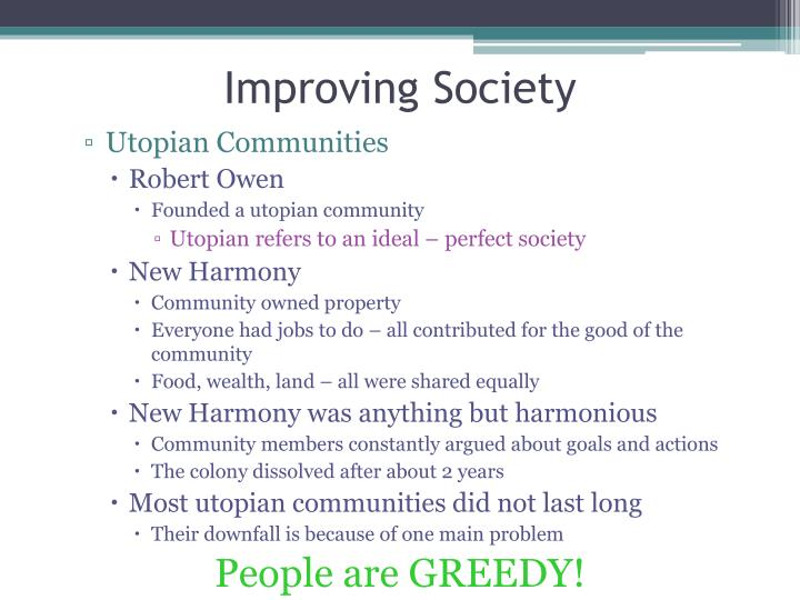 Improving Society