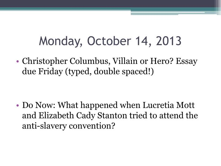 Monday, October 14, 2013