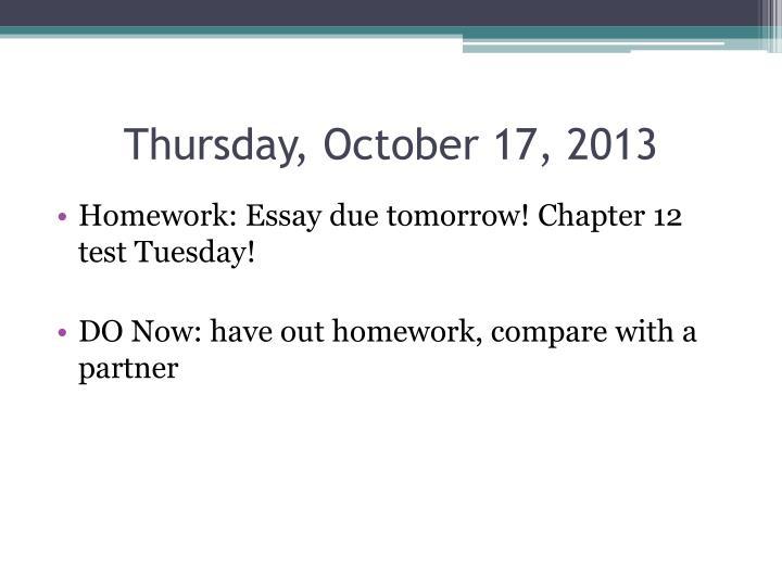 Thursday, October 17, 2013
