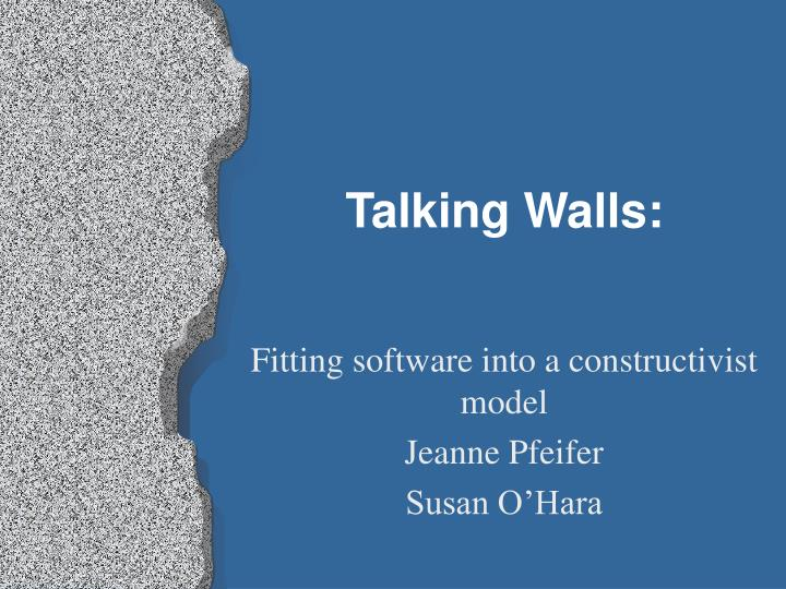 talking walls