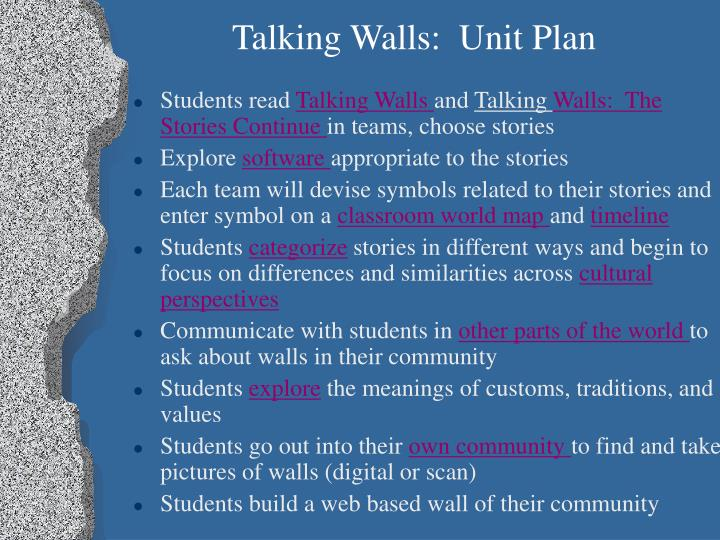 Talking Walls:  Unit Plan