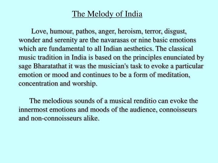 The Melody of India