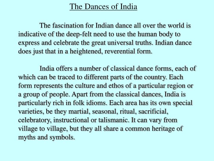 The Dances of India