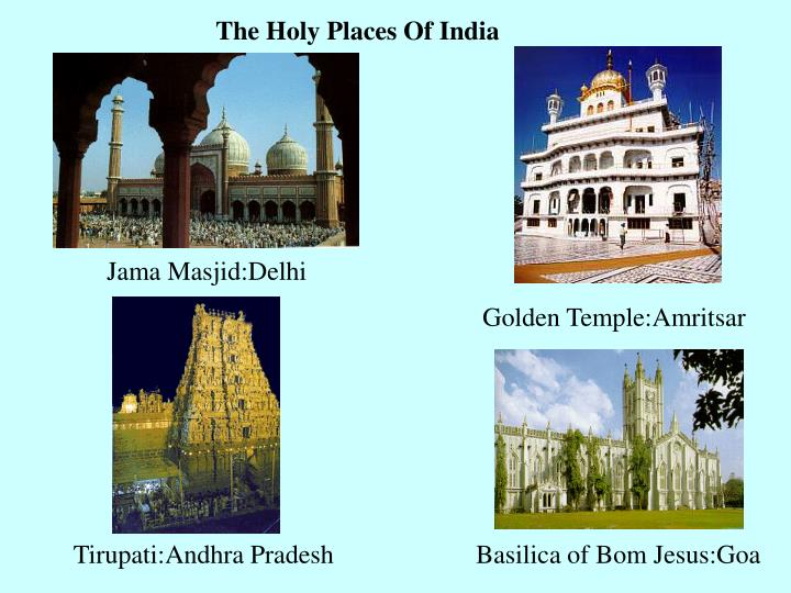 The Holy Places Of India