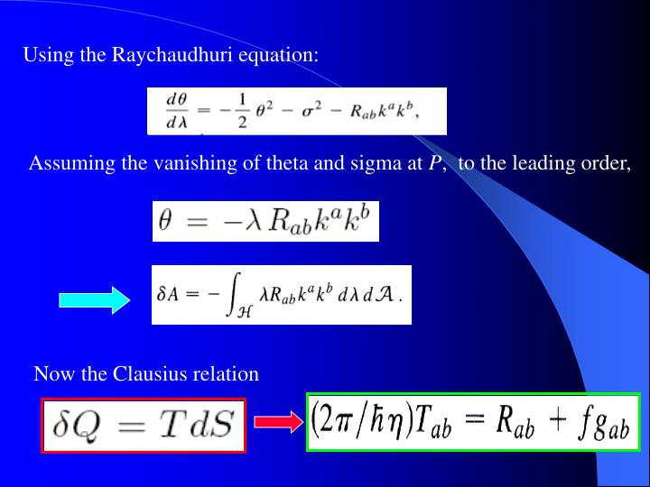 Using the Raychaudhuri equation: