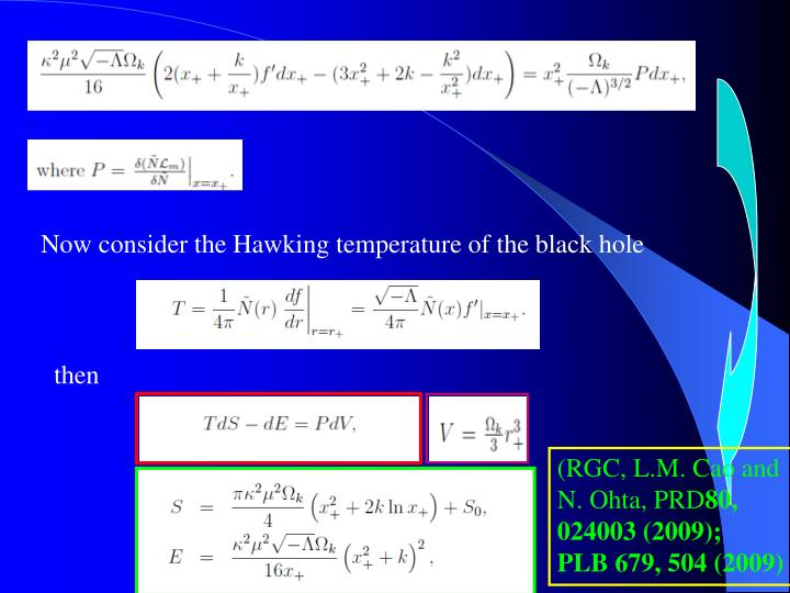 Now consider the Hawking temperature of the black hole