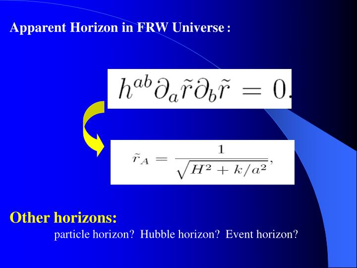 Apparent Horizon in FRW Universe