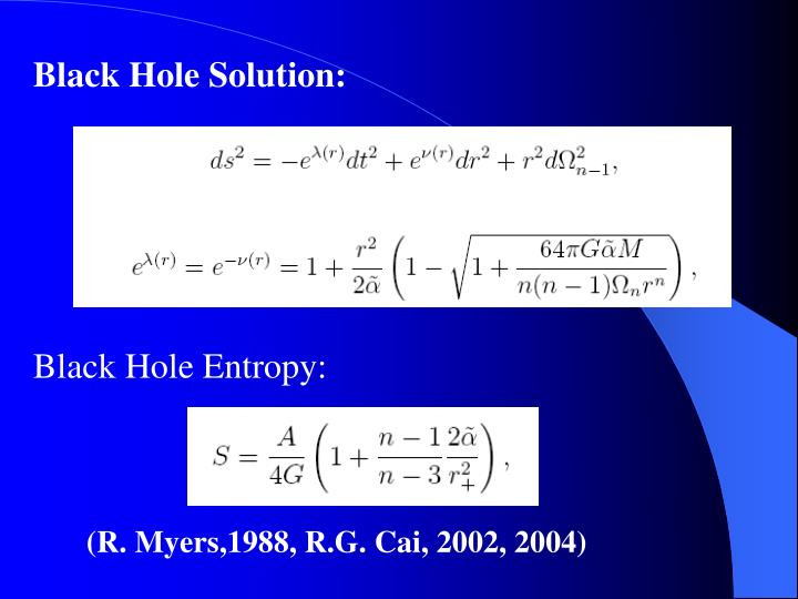 Black Hole Solution: