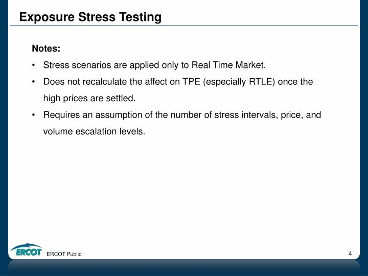 Exposure Stress Testing