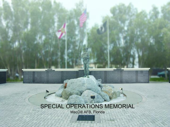 SPECIAL OPERATIONS MEMORIAL