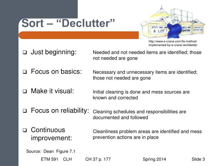 """Sort – """"Declutter"""""""