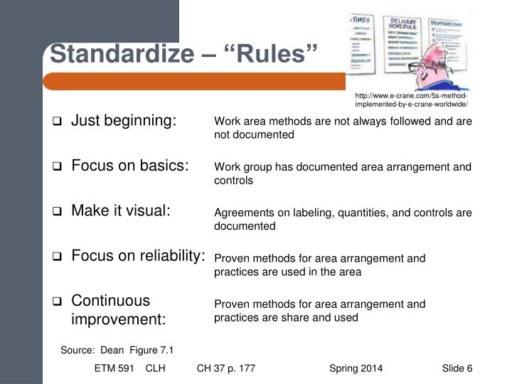 "Standardize – ""Rules"""
