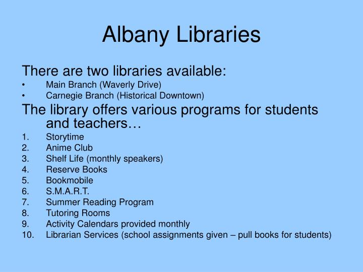 Albany Libraries