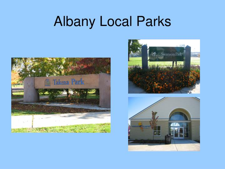 Albany Local Parks