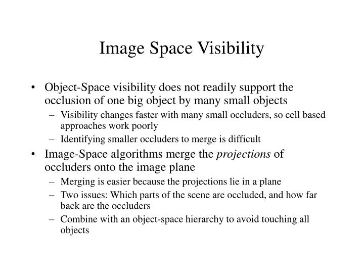 Image space visibility