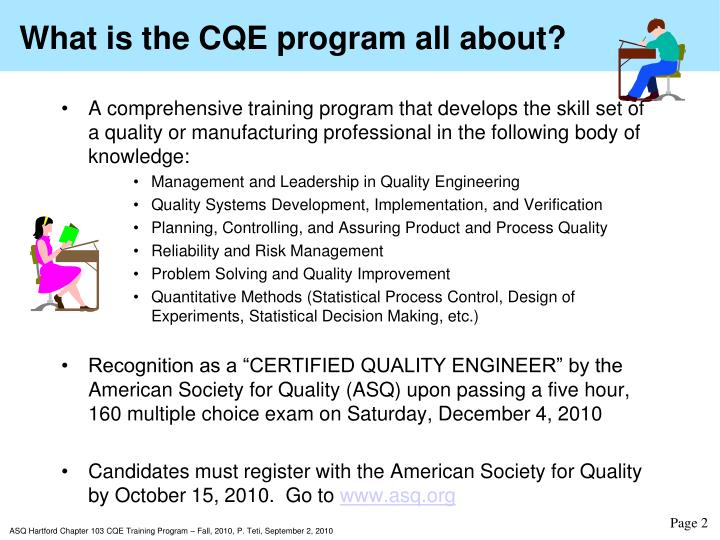 What is the CQE program all about?