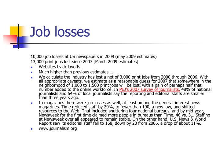 Job losses