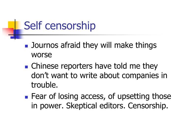 Self censorship