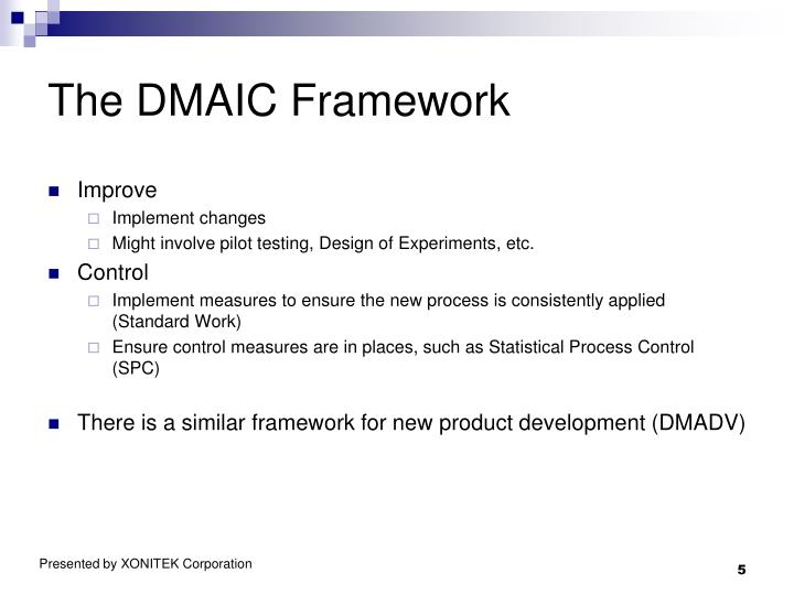 The DMAIC Framework