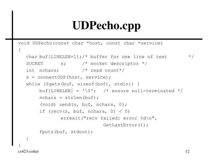 UDPecho.cpp