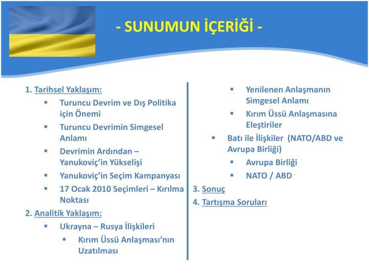 - SUNUMUN