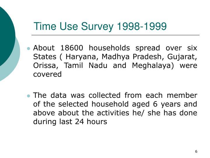 Time Use Survey 1998-1999