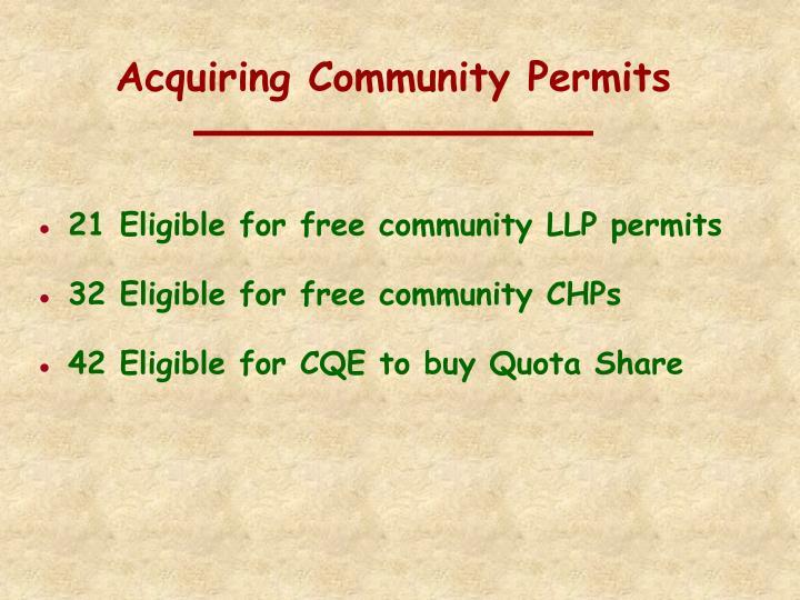 Acquiring Community Permits