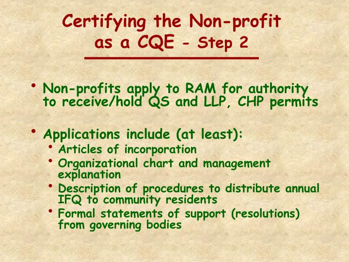 Certifying the Non-profit